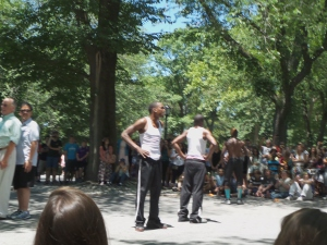 Central Park entertainment by the Afrobats