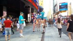 Anything goes on Times Square