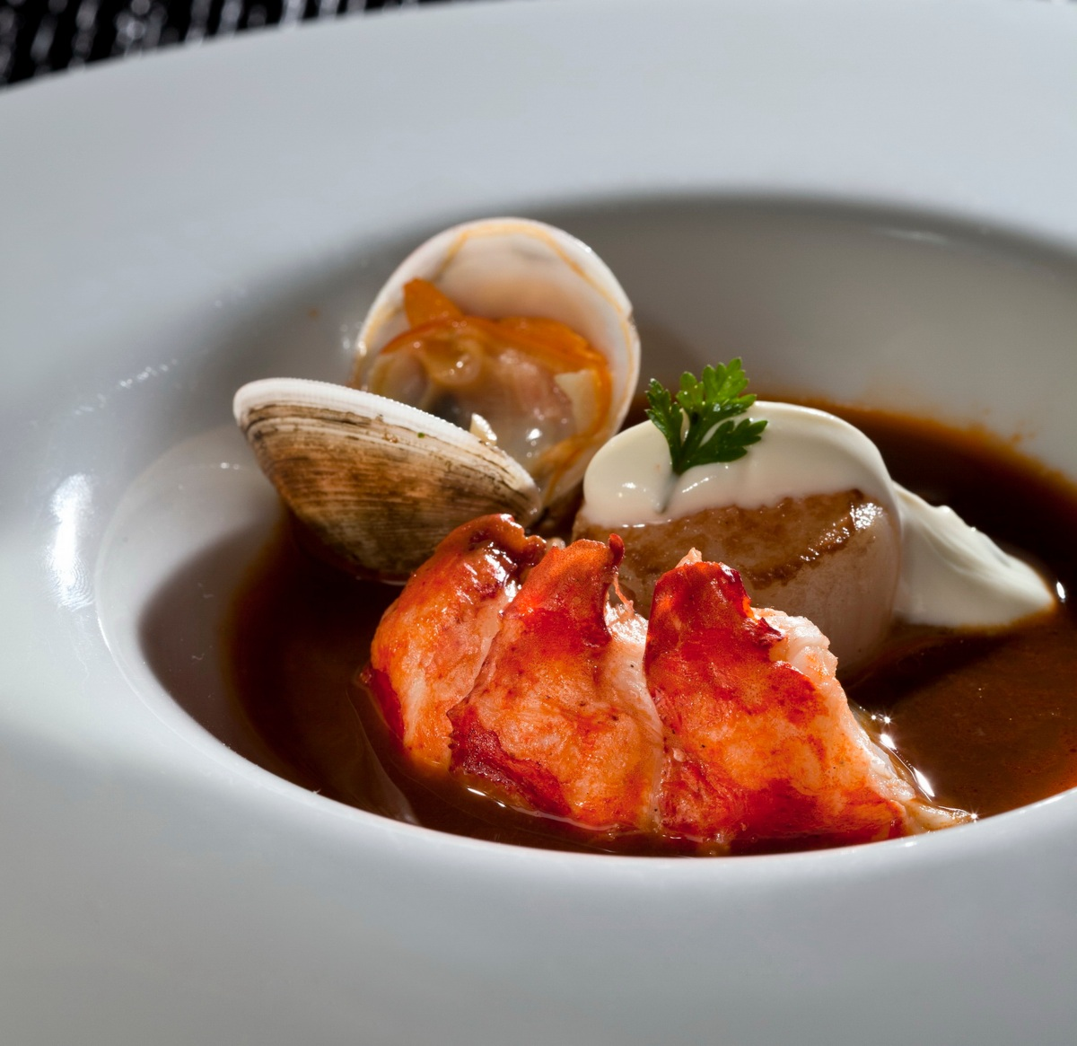 LOBSTER BISQUE, LOBSTER MEDALLION, MUSSELS, SCALLOP & LIME CREAM | EXECUTIVE CHEF VINCENT FROM ...