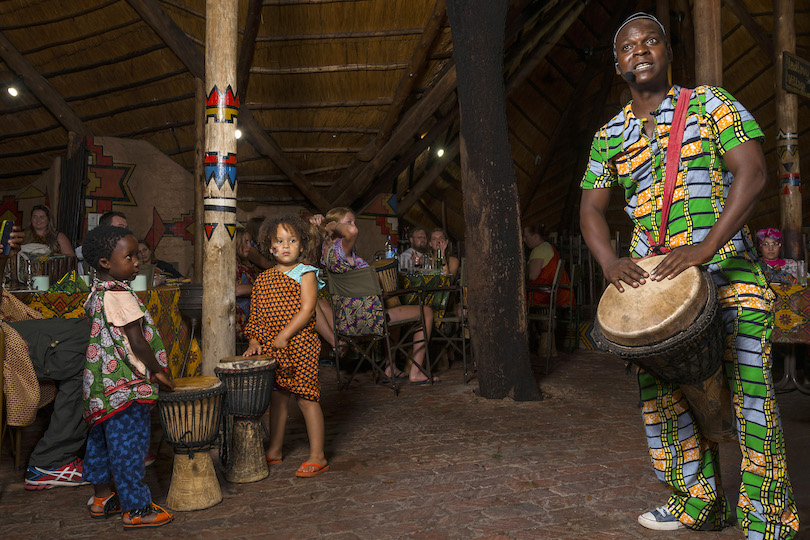 The Boma - Dinner & Drum Show - children drumming