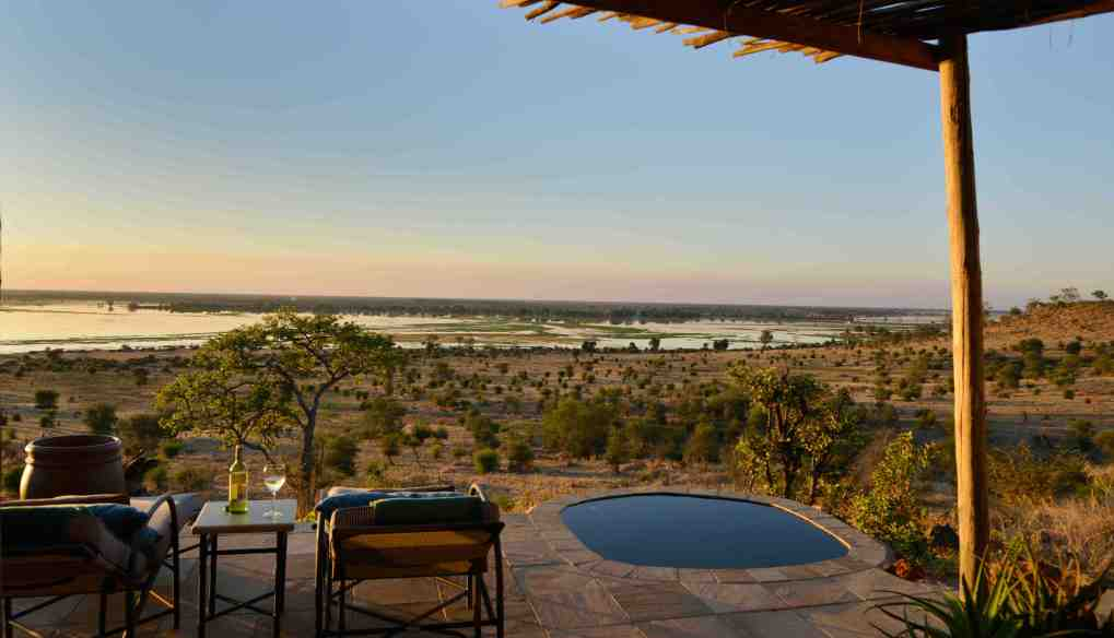 View over the Chobe flood plain from Ngoma Safari Lodge Suite