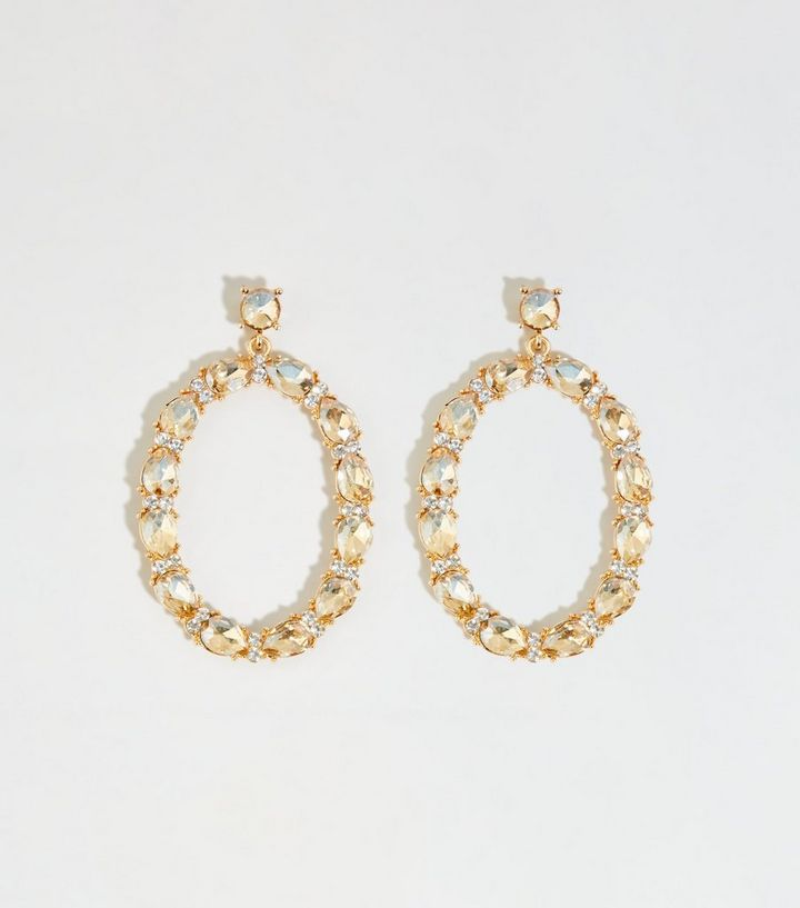 gold-diamanté-oval-earrings-