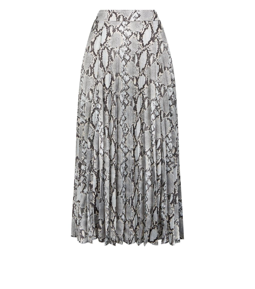 petite-grey-snake-print-satin-pleated-midi-skirt