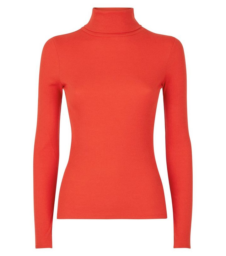 red-ribbed-roll-neck-top