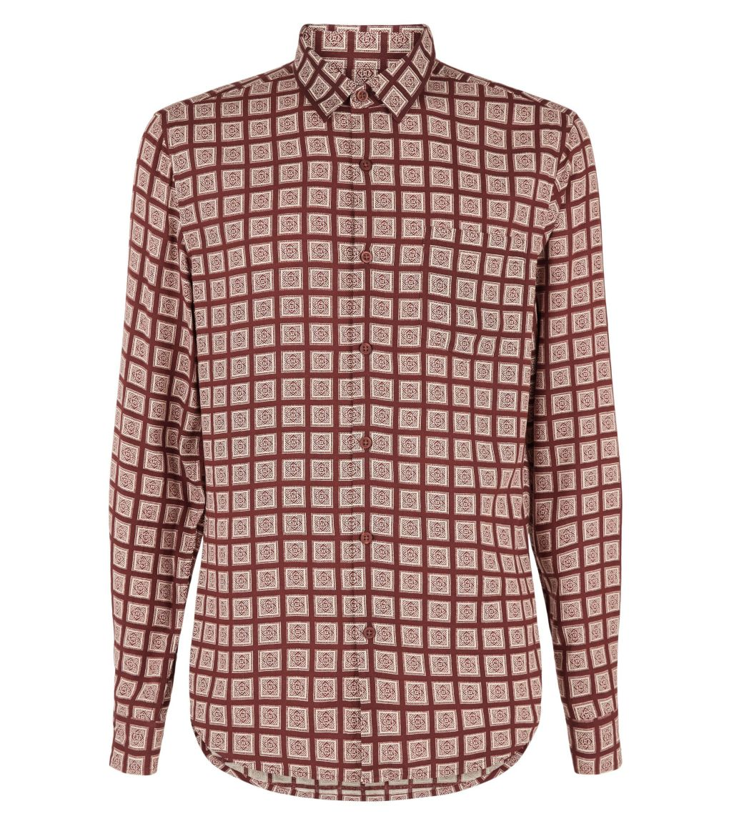 burgundy-tile-print-shirt